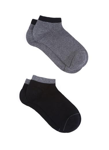 Mavi 2Li Patik Çorap Seti Siyah
